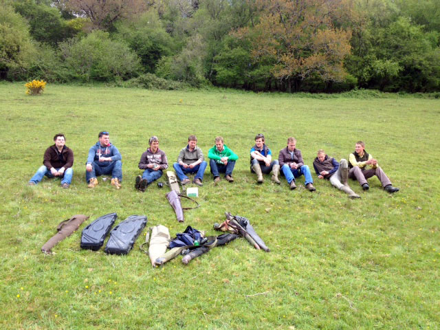 Stag do, stag doo shooting, clay shooting group, shooting school Exmoor, clay shoot classes