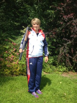 Katy Cox in her GB uniform