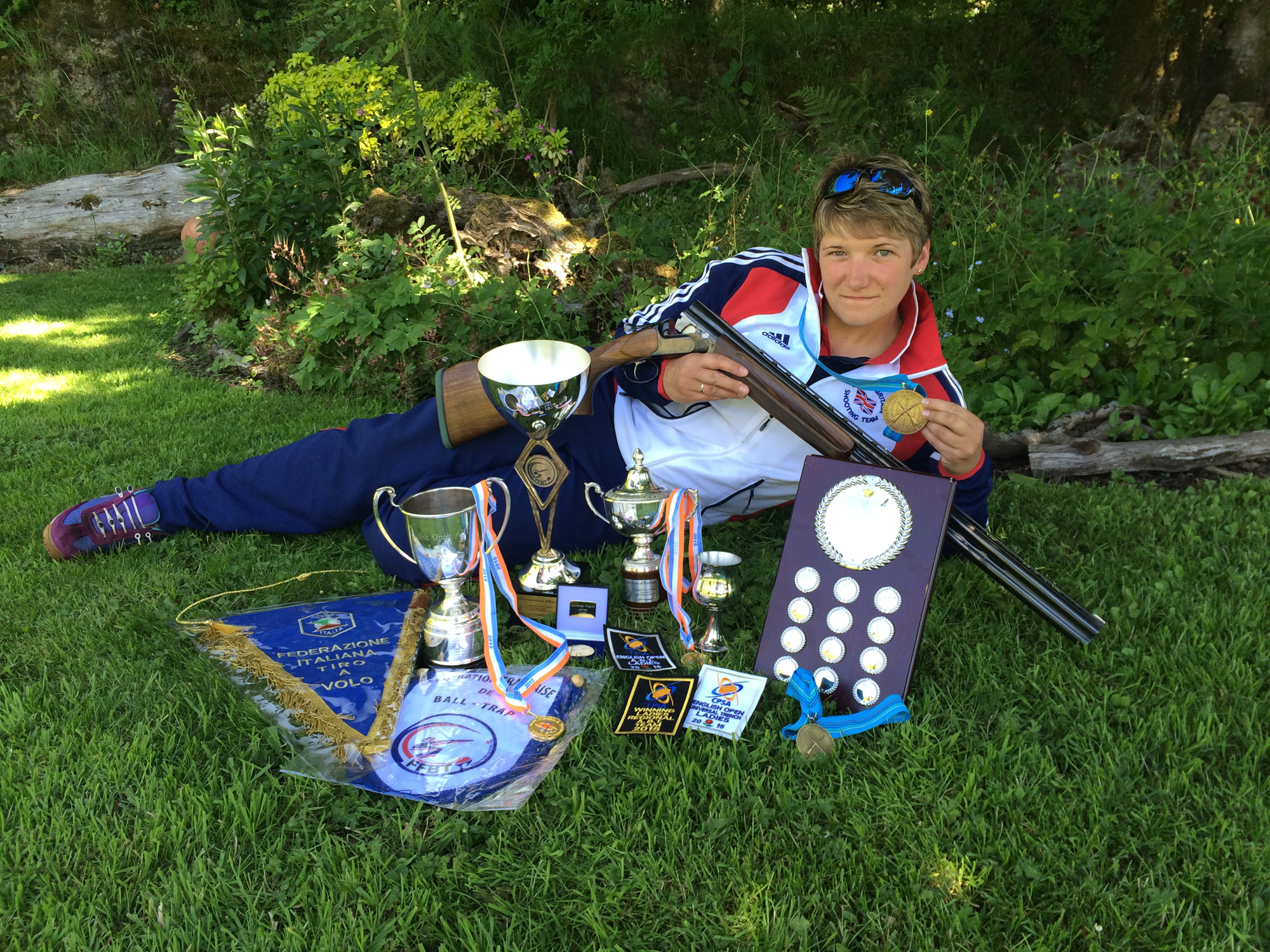 Me with my current Clay Shooting trophies and medals to date
